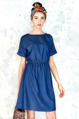 Sukienka Jeansowa na Gumie PROJEKTANT Kasia Miciak