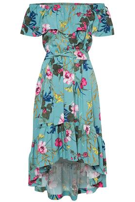 Sukienka z falbaną w kwiaty PROJEKTANT Kasia Miciak
