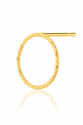 Kolczyki Silver Circle Złote PROJEKTANT La Tienne