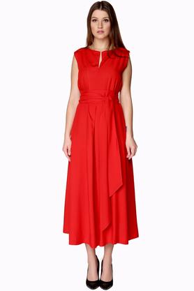 Sukienka midi z bawełny czerwona PROJEKTANT VerityHunt