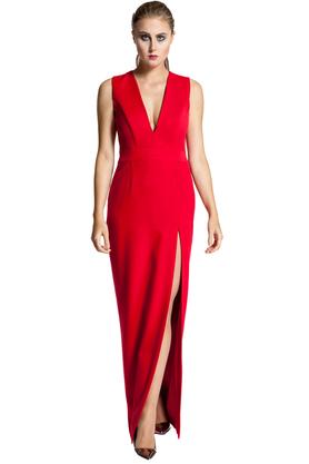 Sukienka Małgorzata III Czerwona PROJEKTANT Inspiracja Butik