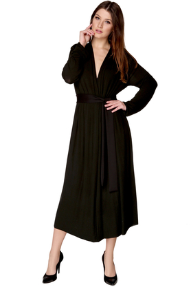 Sukienka midi rozkloszowana czarna PROJEKTANT VerityHunt