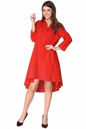 Sukienka koszulowa czerwona PROJEKTANT VerityHunt