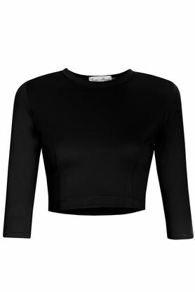 Bluzeczka krótka czarna PROJEKTANT Kasia Miciak