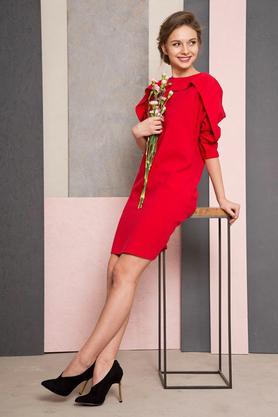 Sukienka Horizontal czerwona PROJEKTANT Maria Wiatrowska