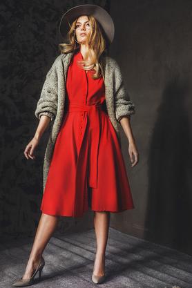 Sweter - płaszcz szary PROJEKTANT VerityHunt